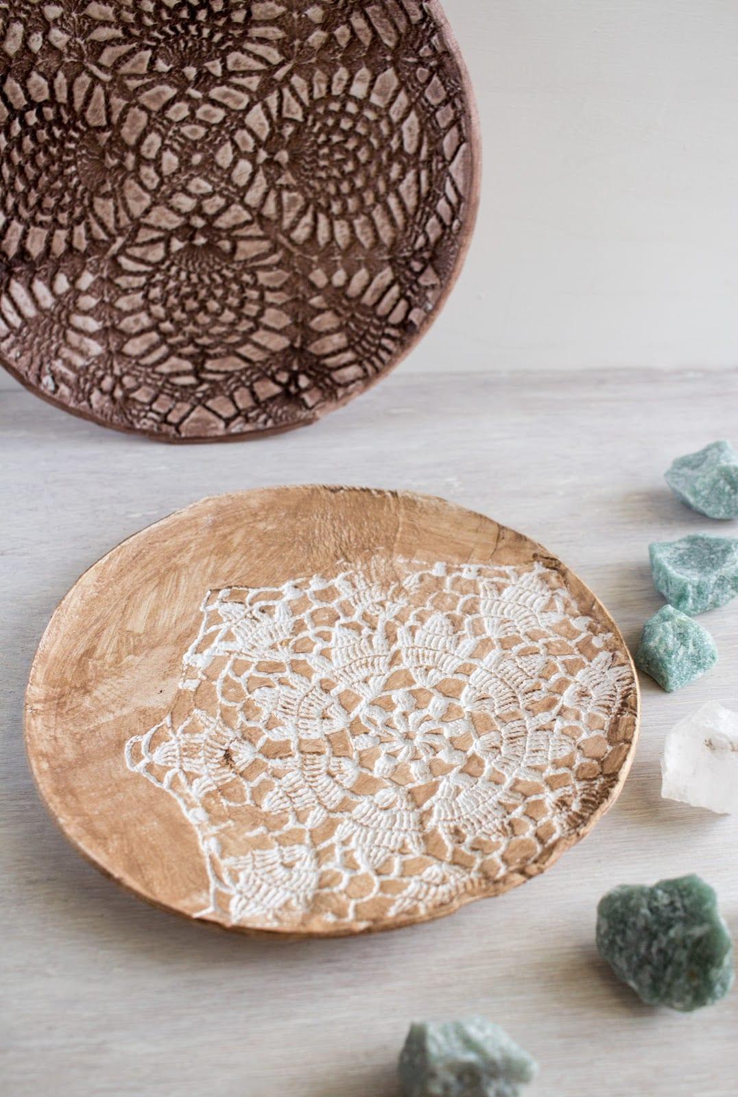 Kilden dekoratif tabak yapımı