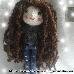 Kıvırcık Saçlı Bebek Amigurumi