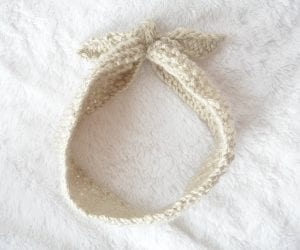 Kravat Modeli Örgü Saç Bandı Nasıl Yapılır? 7