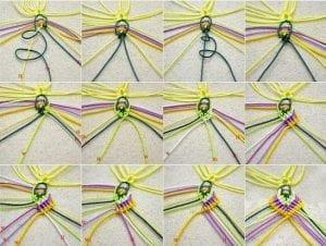 Makrome Çiçek Yapımı 3