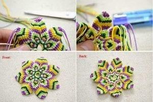 Makrome Çiçek Yapımı 8