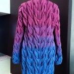 Renkli Örgü Uzun Hırka Modelleri 73