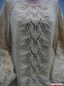 Yaprak Desenli Bluz Yapımı 20