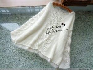 Yaprak Desenli Bluz Yapımı 24