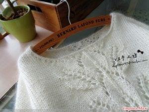 Yaprak Desenli Bluz Yapımı 7