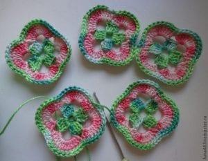 5 Motiften Çiçek Battaniye Nasıl Yapılır? 2