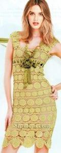 Delikli Tığ İşi Elbise Yapımı 2