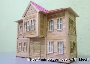 Dondurma Çubuklarından Maket Ev Yapımı