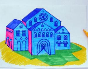 Kolay Okul Çizimi