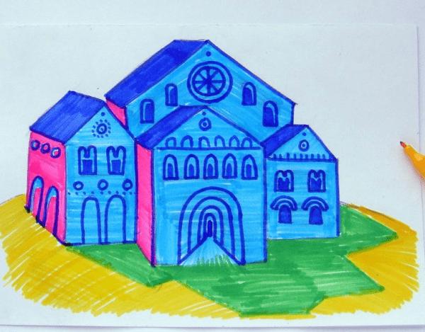 Kolay Okul Çizimi 2