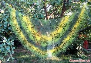 Meşe Yaprakları Şal Modeli Yapılışı 11