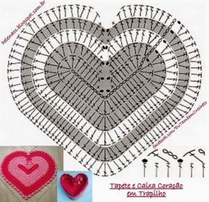 Örgü Kalp Paspas Nasıl Yapılır? 3
