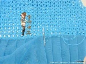 Örgü Tütü Elbise Yapımı 16