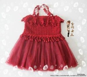 Örgü Tütü Elbise Yapımı 2