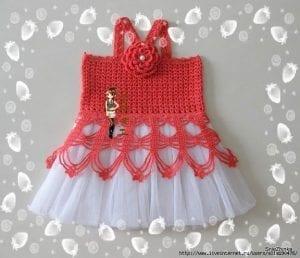 Örgü Tütü Elbise Yapımı 3