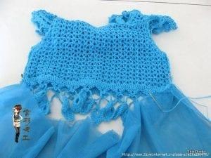 Örgü Tütü Elbise Yapımı 6