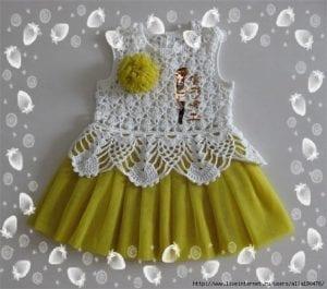 Örgü Tütü Elbise Yapımı 7