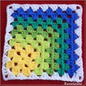 Renkli Kare Bebek Battaniyesi Yapımı 15