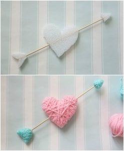 Sevgililer Günü İple Sarılmış Kalpler Yapımı