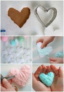 Sevgililer Günü İple Sarılmış Kalpler Yapımı 7