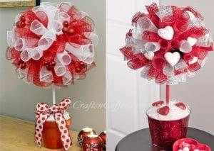 Sevgililer Gününe Özel Top Çiçek Yapımı
