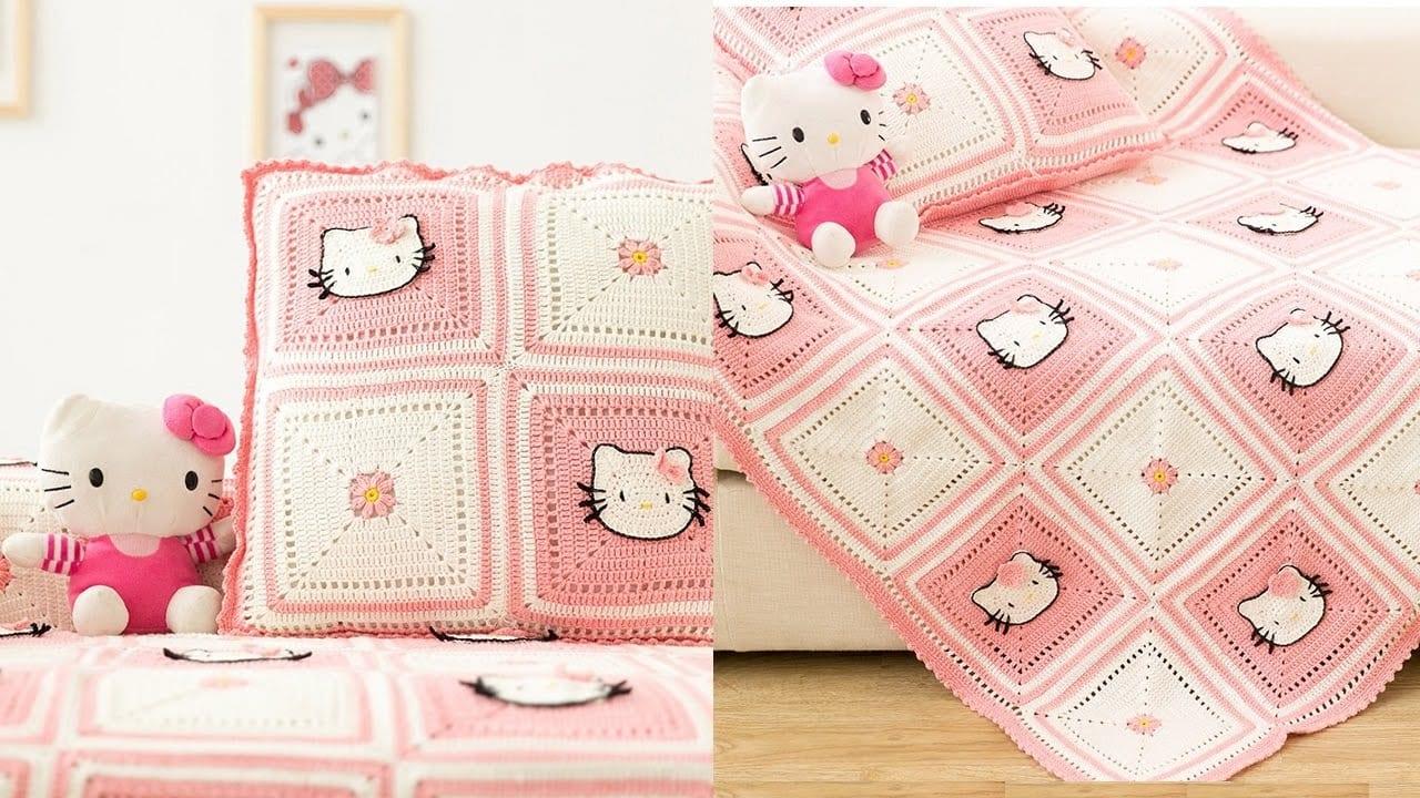 Videolu, Hello Kitty Bebek Battaniyesi Yapılışı 1