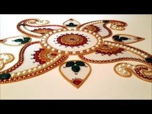 Videolu, Kundan Rangoli Nasıl Yapılır ?
