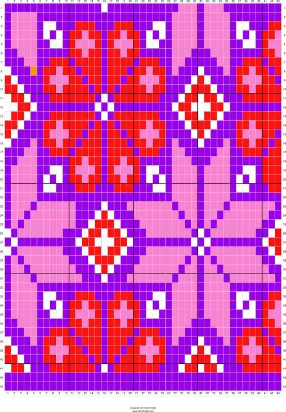 Wayuu Mochilla Bag Chart 36
