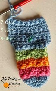 Yıldız Örgü Bebek Çorabı Nasıl Yapılır? 4