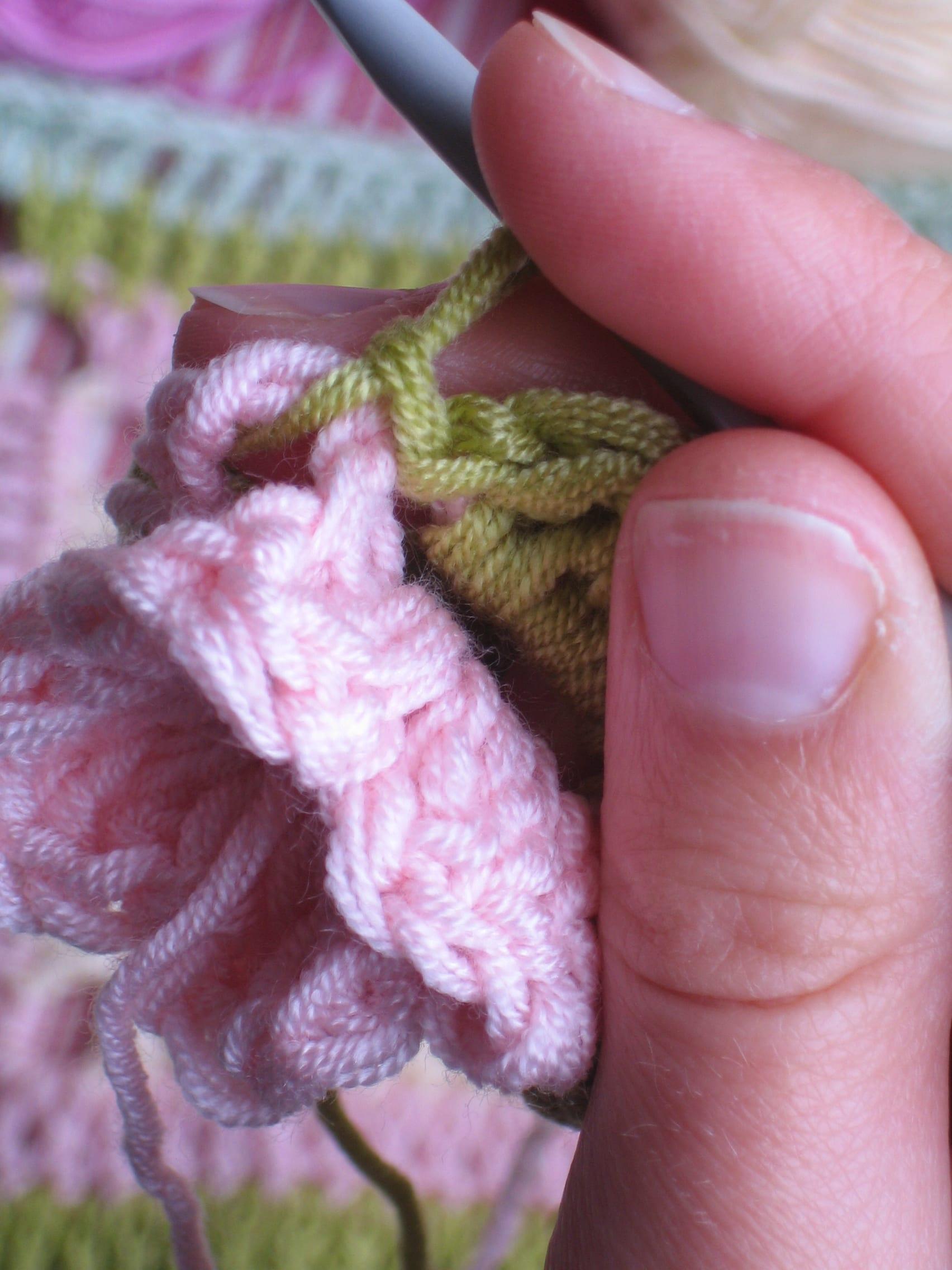 Çiçekli Bebek Battaniyesi Nasıl Yapılır? 36