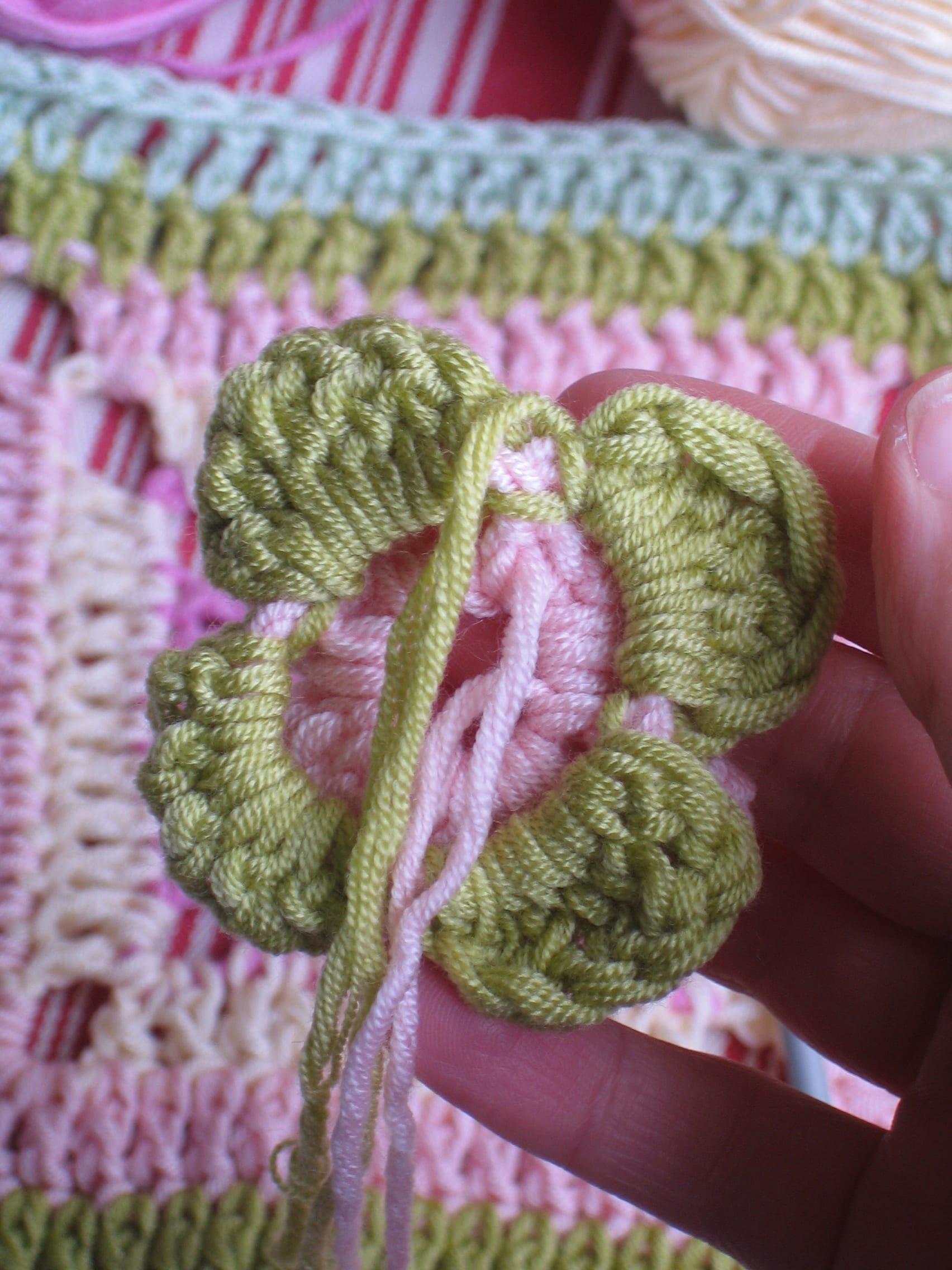 Çiçekli Bebek Battaniyesi Nasıl Yapılır? 39