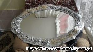 El Yapımı Ayna Süsleme