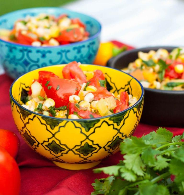 Izgara mısır ve domates salatası tarifi 42