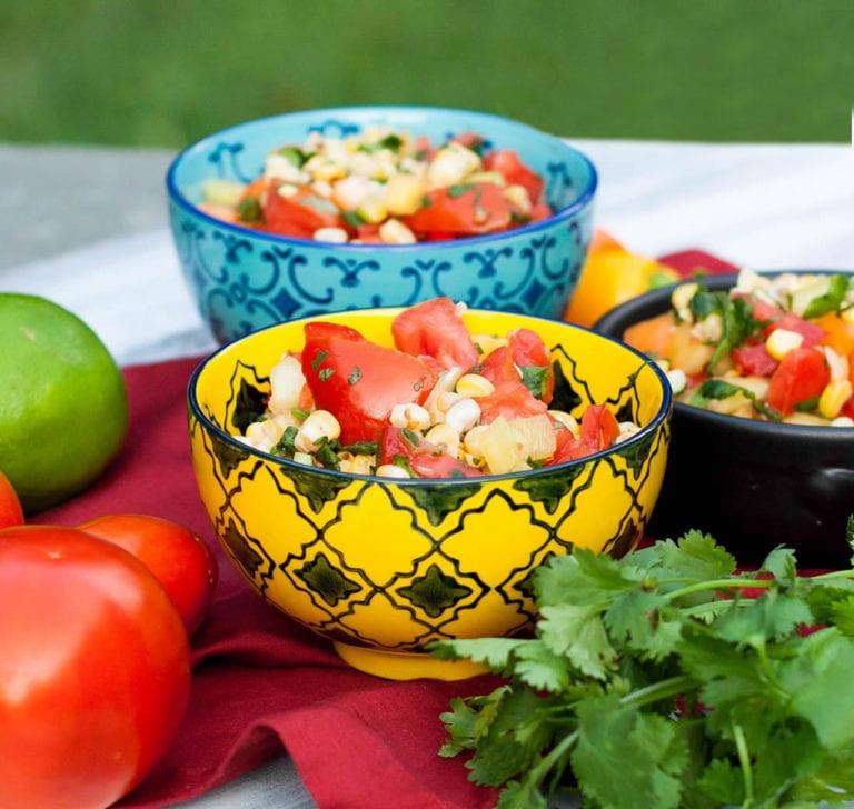 Izgara mısır ve domates salatası tarifi 4