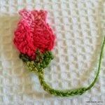 Örgü Çiçek Tomurcuk Nasıl Yapılır ? 21