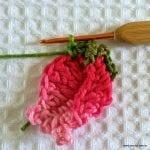 Örgü Çiçek Tomurcuk Nasıl Yapılır ? 34