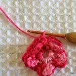 Örgü Çiçek Yapımı Resimli Anlatım 17