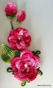 Örgü Çiçek Yapımı Resimli Anlatım 1