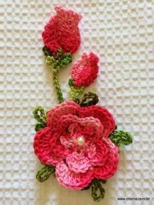 Örgü Çiçek Yapımı Resimli Anlatım 2