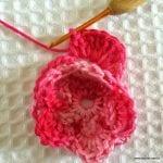 Örgü Çiçek Yapımı Resimli Anlatım 36