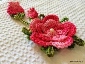 Örgü Çiçek Yapımı Resimli Anlatım 3