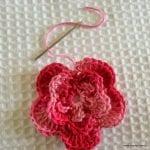 Örgü Çiçek Yapımı Resimli Anlatım 41