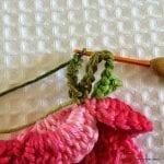 Örgü Çiçek Yapımı Resimli Anlatım 50