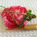Örgü Çiçek Yapımı Resimli Anlatım 52