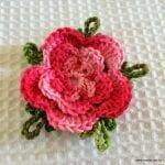 Örgü Çiçek Yapımı Resimli Anlatım 53