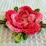 Örgü Çiçek Yapımı Resimli Anlatım 54