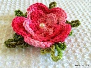 Örgü Çiçek Yapımı Resimli Anlatım 56