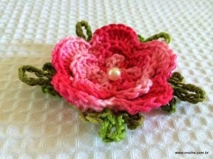 Örgü Çiçek Yapımı Resimli Anlatım 59