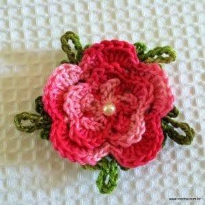 Örgü Çiçek Yapımı Resimli Anlatım 60