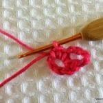 Örgü Çiçek Yapımı Resimli Anlatım 6